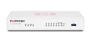 Fortinet FortiGate-50E 7 x GE RJ45 ports (Including 2 x WAN port, 5 x Switch ports), Max managed FortiAPs (Total / Tunnel) 10 / 5